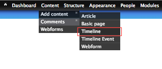 Create a new timeline