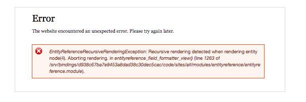 Possible Errors