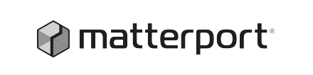Matterport black and white logo