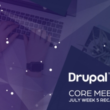 Drupal Core Meetings July Week 5 Recap