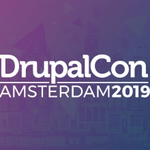 Amsterdam street view with DrupalCon logo overlaid