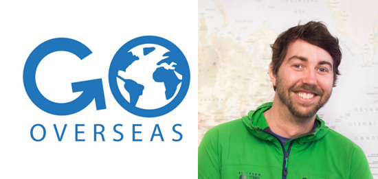 GoOverseas logo and Andrew Dunkle photo