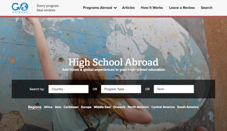 gooverseas high school abroad screenshot