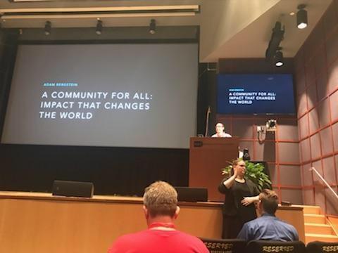 Adam Bergstein delivering the Drupal GovCon keynote