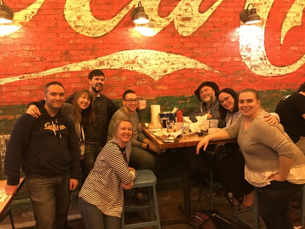 The Hook 42 team having BBQ in Nashville
