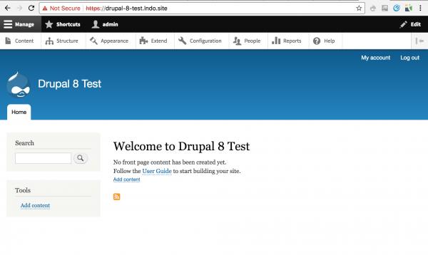 New Drupal 8 site
