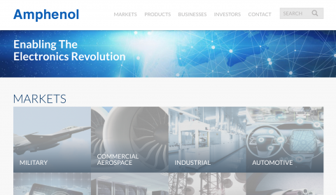 amphenol corporation website screenshot