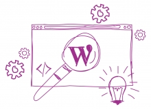 Illustration of custom WordPress development