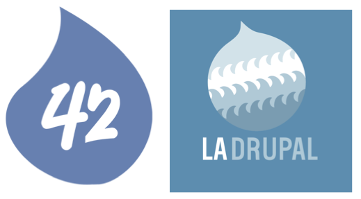 Hook 42 and LA Drupal logo side by side
