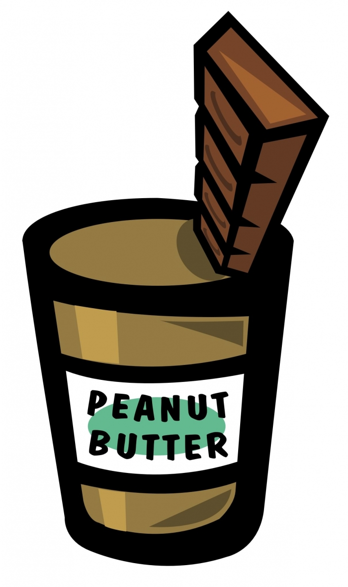 Drawing of peanut butter and chocolate in perfect harmony