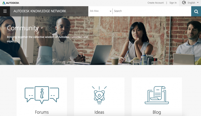 autodesk knowledge network community homepage